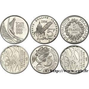 5 francs commemoratives