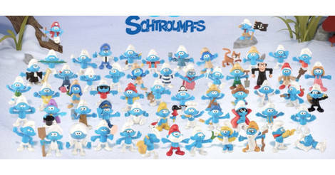 Figurine smurf smurf mac donald 2018 mac Donald/'s mem grand mere 17 b